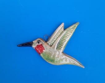 Hummingbird Handmade Ornament, , Arts and Crafts Style, Bungalow Decor, Craftsman Home,  Christmas Ornament