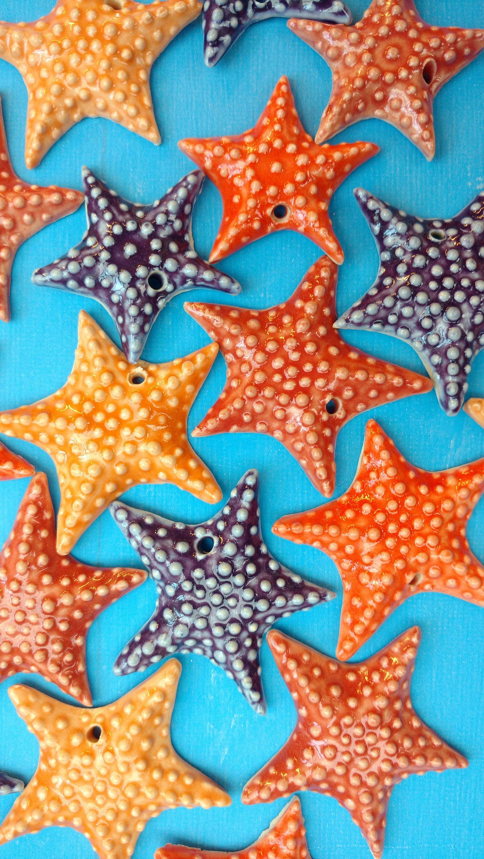 Sea Star Ceramic Ornaments Handmade Stocking Stuffers Free ... - photo#44