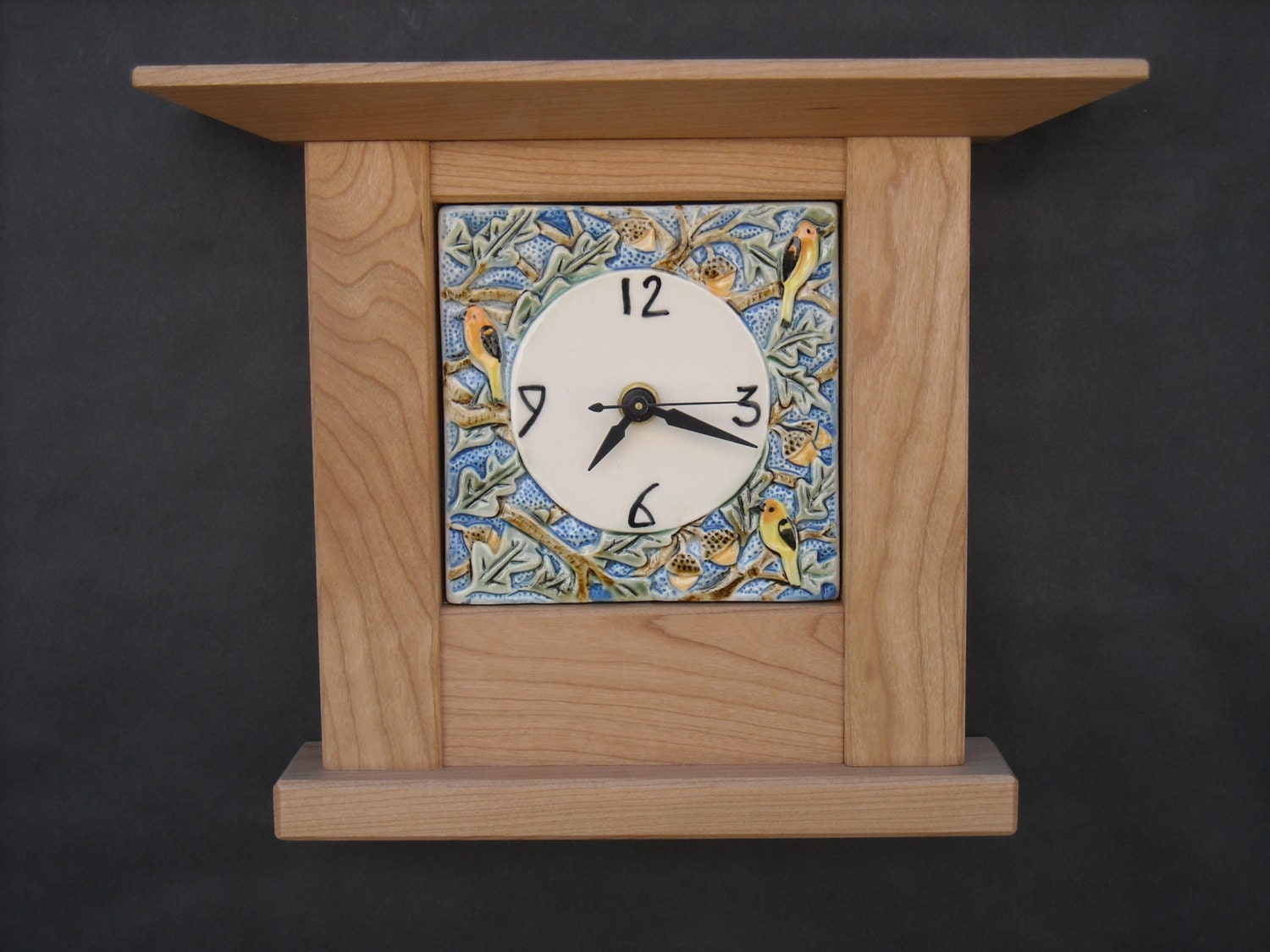 Arts and Crafts Mission Style Oak and Bird Tile in Cherry ... - photo#29