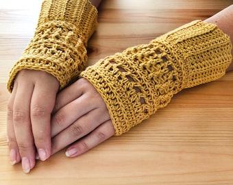 Crochet Pattern - Fingerless Gloves - PDF Pattern - Mittens - Accessories Yarn - Download - #3
