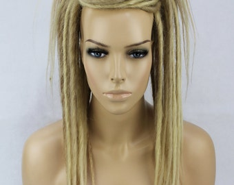 Mixed Blonde Synthetic Dread Falls, 20 Inches Long.