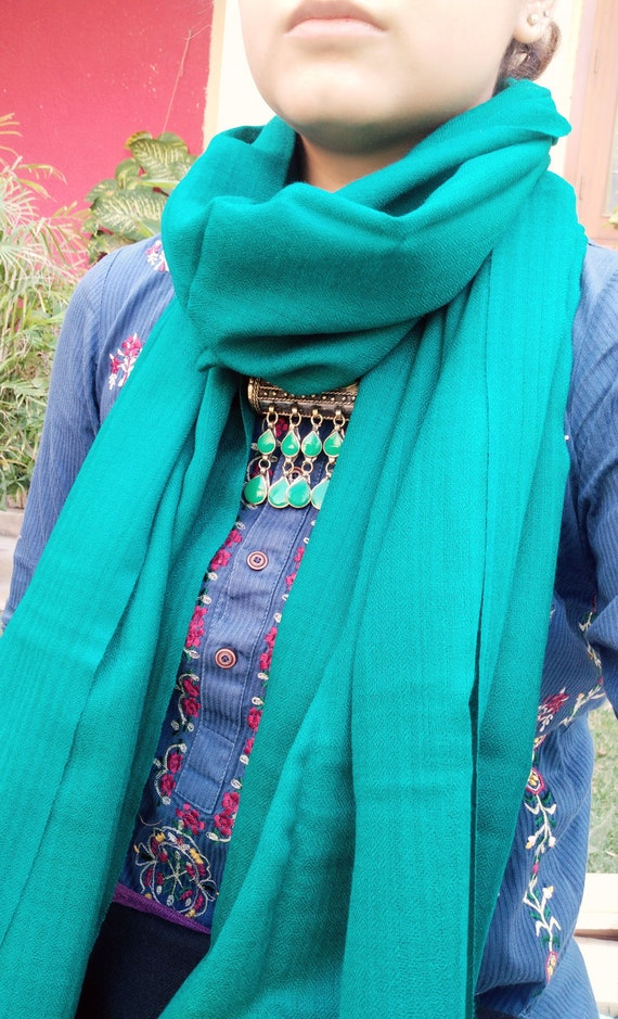 Sea Green Cashmere wrap- Cashmere stole- Cashmere