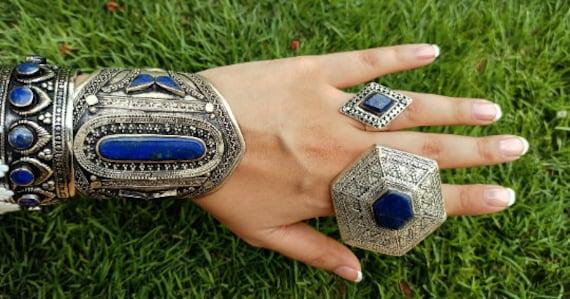 Lapis ring- statement ring-afghan lapis ring- larg