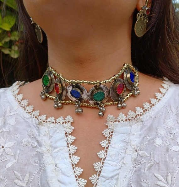 Exotic Kochi Necklace-Kuchi Necklace-collectible statement necklace-Billy Dance Jewellery-Middle Eastern Neck Piece Coin Necklace