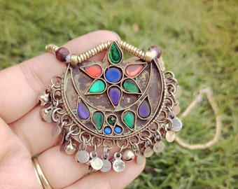 Exquisite Tribal coin Necklace- Headpiece Nomadic Tribal jewelry- Afghan necklace- Afghan jewelry- Statement bohemian jewelry- Ethnic tribal