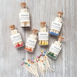 Classic Mini Apothecary Style Matches • 15 Colors • Strike on Bottle Matches • Farmhouse Home Decor • Candle Accessories •