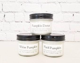 3.5oz Autumn Mini Candle Collection • Autumn Farmhouse • Shiplap • Salted Caramel • Apple Cider • Pumpkin Donut • Fall Farmstand • Chai Tea