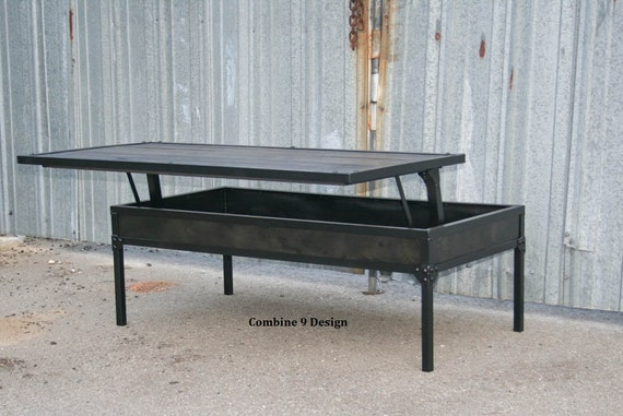 Adjustable Height Coffee Table Modern Industrial Lift Top Etsy