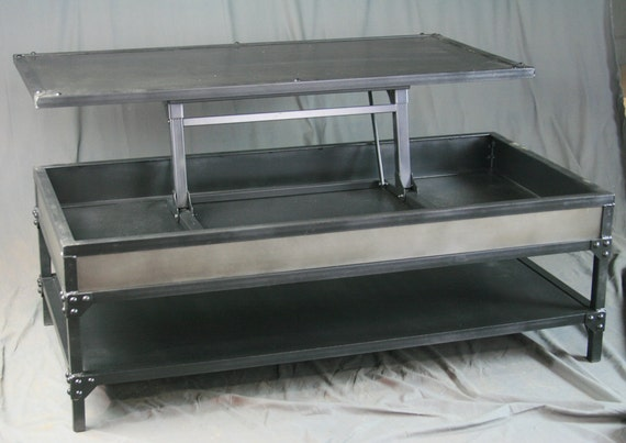 Metal Lift Top Coffee Table 6