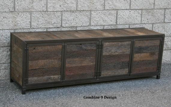 La Credenza Vertaling : Rustic reclaimed wood media console credenza. handmade. etsy