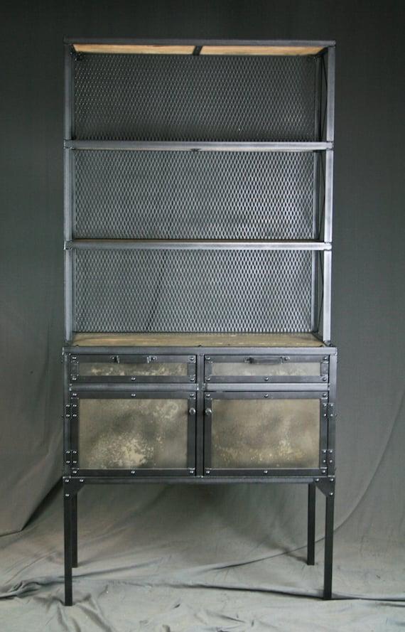Buffet Salon industrial pantry shelving buffet salon workstation. rustic | etsy