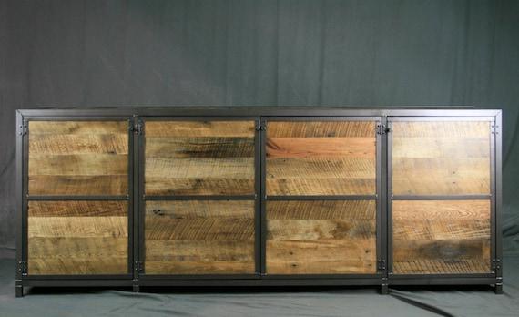 Credenza Industrial Fai Da Te : Tv lift cabinet. reclaimed wood hideaway console. rustic etsy