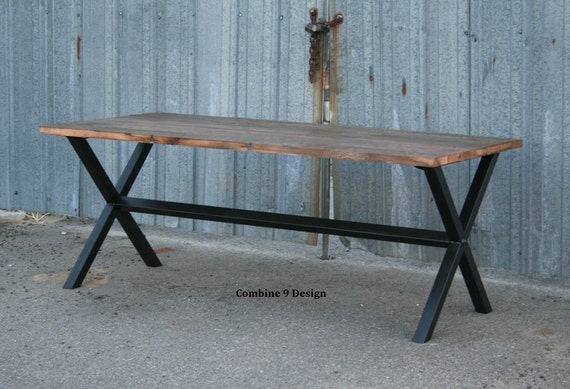 Vintage Industrial Dining Table Minimalist Desk Modern Etsy
