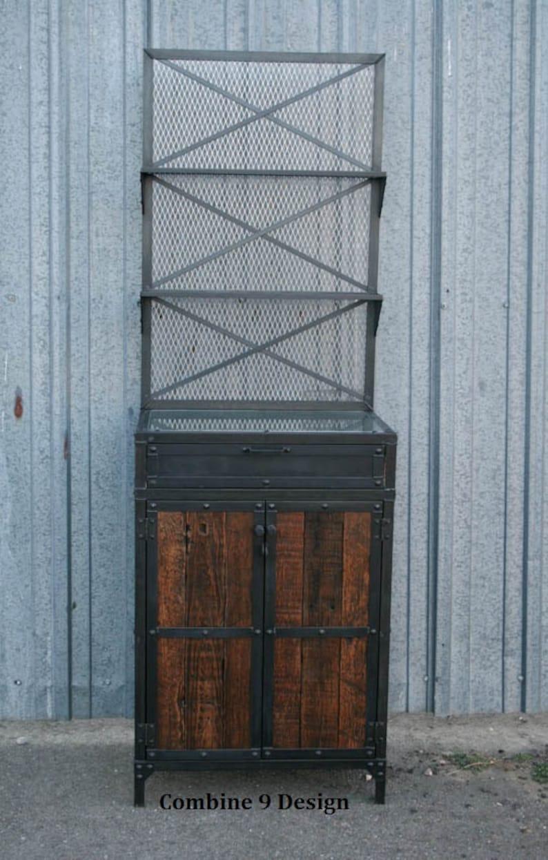 Vintage Industrial Bar. Modern Salon Workstation. Metal and | Etsy
