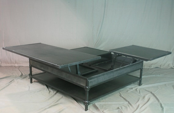 Double Lift Top Coffee Table Adjustable Height Coffee Table Etsy - Double lift top cocktail table