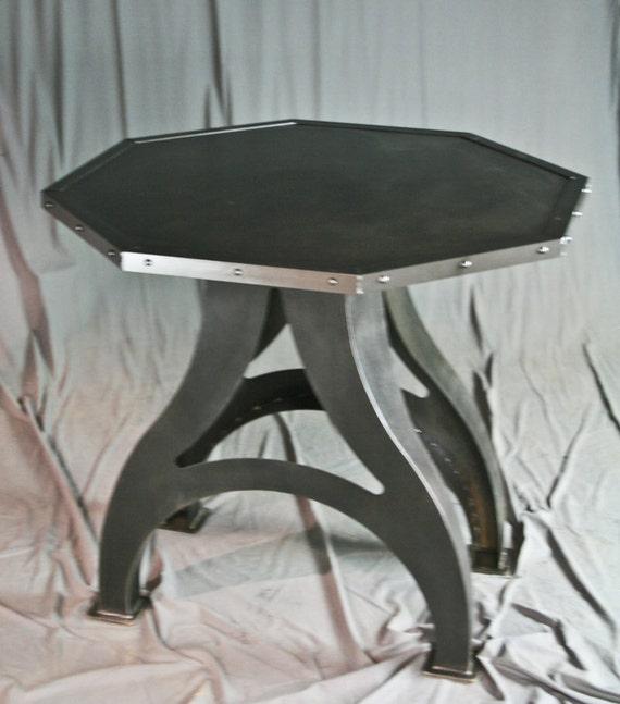 Industrial Table. Steel Poker Table. Modern Industrial Card | Etsy