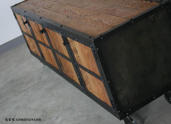 Credenza Industrial Fai Da Te : Reclaimed wood media console. industrial credenza. modern etsy