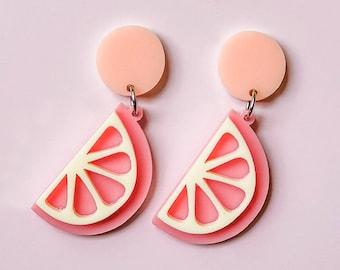 EARRINGS | Pink Lemon Squeeze: Big And Fancy Hello Miss May Drop Earrings