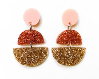 EARRINGS | Melbourne Bling (Three Tiered) : Big And Fancy Hello Miss May Drop Earrings