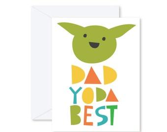 GREETING CARD | Dad Yoda Best  : Star Wars Modern Illustration Art