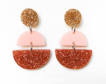 EARRINGS | Melbourne Rose Gold (Three Tiered) : Big And Fancy Hello Miss May Drop Earrings