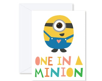 GREETING CARD | One In A Minion : Modern Illustration Art