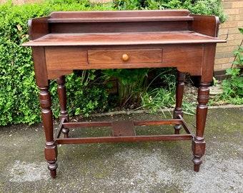 Victorian mahogany writing desk/side table