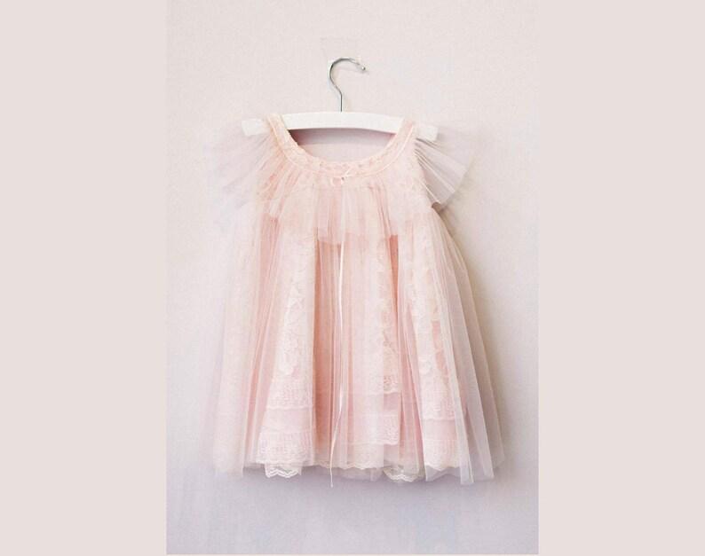First Birthday Baby Girl dress First Birthday outfit Esther Blush First Birthday Dress