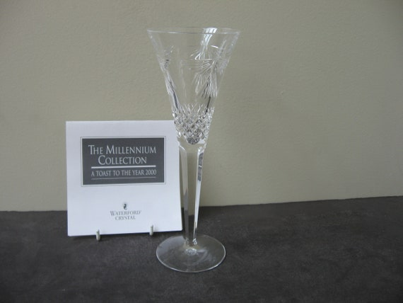 """PERFECT!! WATERFORD CRYSTAL MILLENNIUM TOASTING FLUTE 9 1//4/"""" PROSPERITY"""