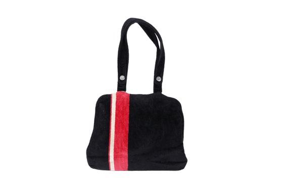 VINTAGE 60s VELVET Stripe BAG
