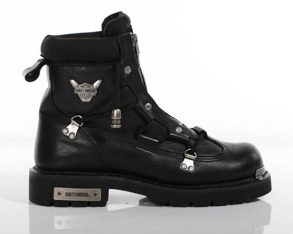 Vtg 90s HARLEY DAVIDSON Leather Chunky Lug Sole Co