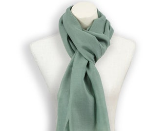 Soft sage green cashmere scarf women; Best christmas gift ideas for women; Gray green pashmina shawl wrap; Green grey pashmina scarf men