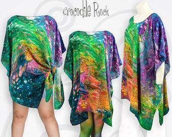 Tie Dye Womens Pashmina Scarf Shawl Sarong Festival Beach Gift Present RAINBOW