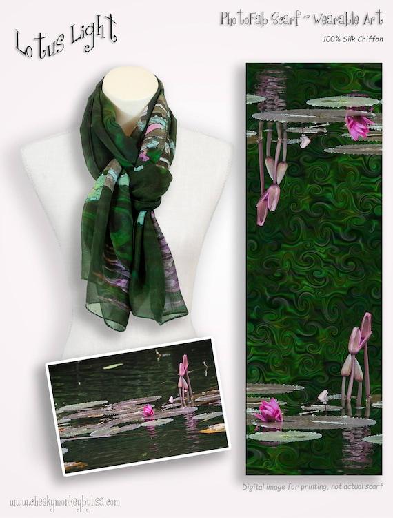Blue Green Tone Floral Flower Print Fashion Neck Scarf Tie Head Wrap Accessories