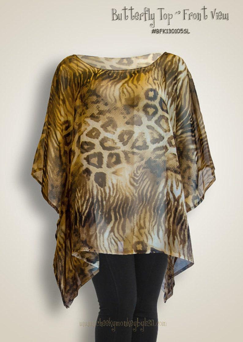 bd483d7e30 Animal print silk chiffon leopard print shirt beach wear | Etsy
