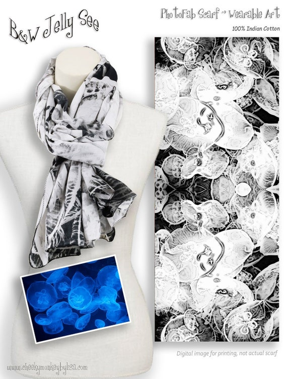 Fashion Formal Soft Scarves For Men And Women Jellyfish Winter Scarf
