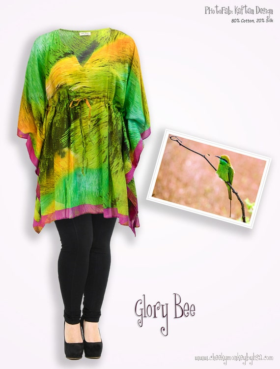 Bright color chartreuse empire waist top boho chic clothing  fd98cf56b