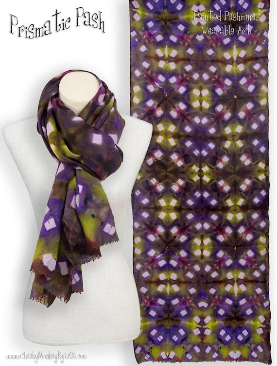 Shawl blue//purple coloured patttern 100/% Pashmina stunning Pashmena Scarf