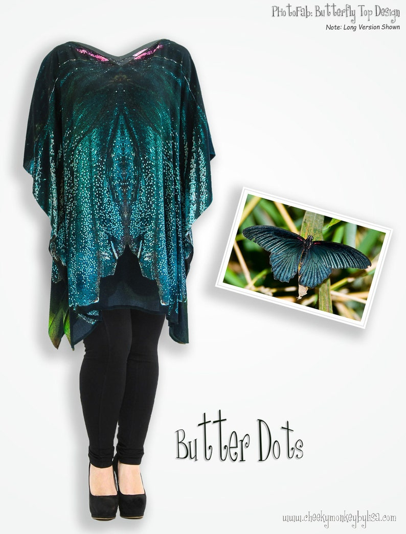 81855ee778d Teal butterfly top trendy plus size unique top loose fit