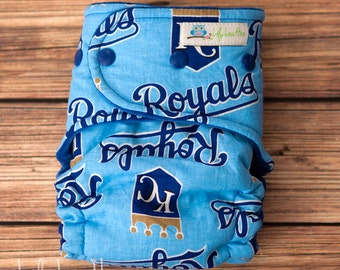 """Hybrid Fitted Cloth Diaper- """"Royals"""" woven"""