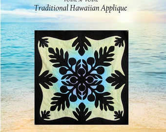 Herd of turtles quilt pattern hawaiian appliqué pacific rim etsy
