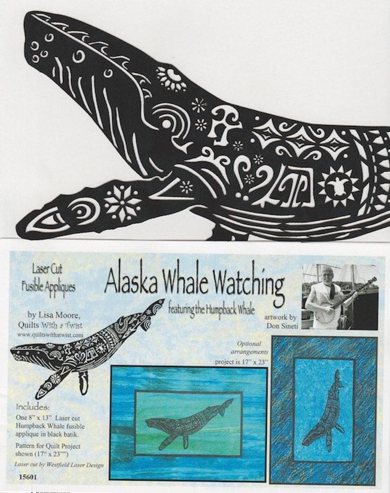 Alaska Whale Watching Laser Cut Fusible Appliqué DIY Appliqué Only, by Lisa  Moore