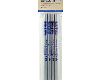 Roxanne's Quilt Marking Pencils, 4 Silver, Water Soluble, for Quilting & Sewing