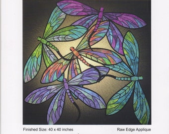 Dance of the Dragonflies Quilt Pattern, Designed by JoAnn Hoffman, DIY Quilting