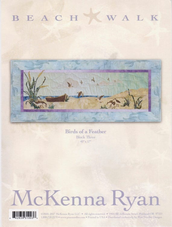 Quilt Block Series McKenna Ryan Water Ballet Beach Walk Block 8