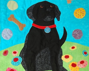 One Dog's Daydreams, Mary Downes, Exclusive Quilt Pattern Designed for Undercover Quilts, Black Lab, Dog