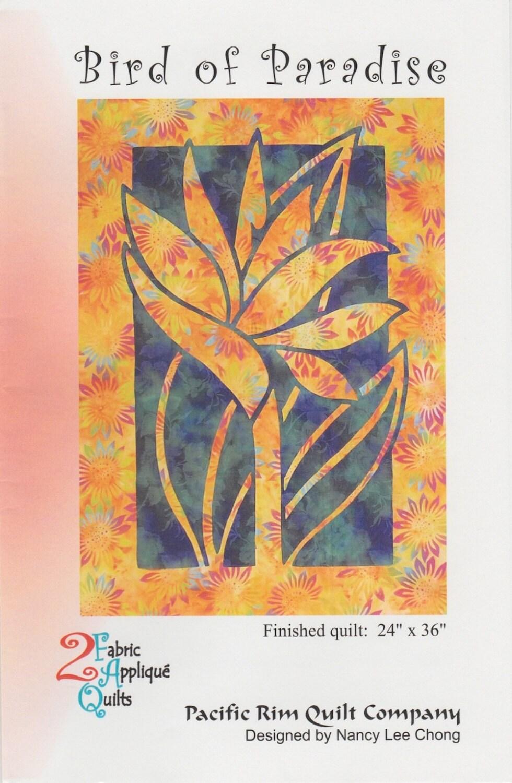 Paradiesvogel Quilt Muster Hawaii-Applikation pazifischen