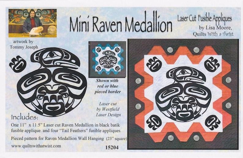 DIY Mini Raven Salmon Laser Cut Fusible Appliqué Lisa Moore