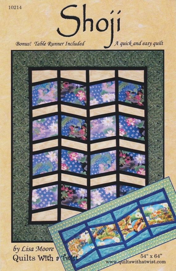 DIY Quilts with a Twist Table Runner and Placemat Pattern Rainforest Rings