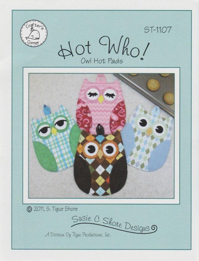 Hot Who Owl Oven Mitt Potholder Pattern To Make Diy Sewing Etsy
